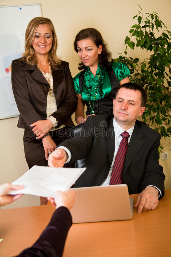 Commerciële vergadering royalty-vrije stock foto's