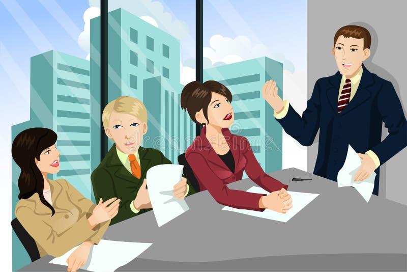 Commerciële vergadering royalty-vrije illustratie