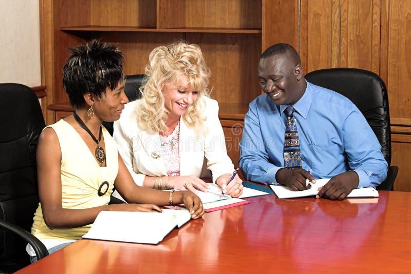 Commerciële vergadering 2 stock afbeeldingen