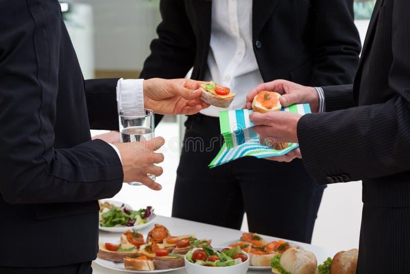 Commerciële vergadering in de ochtend royalty-vrije stock afbeeldingen