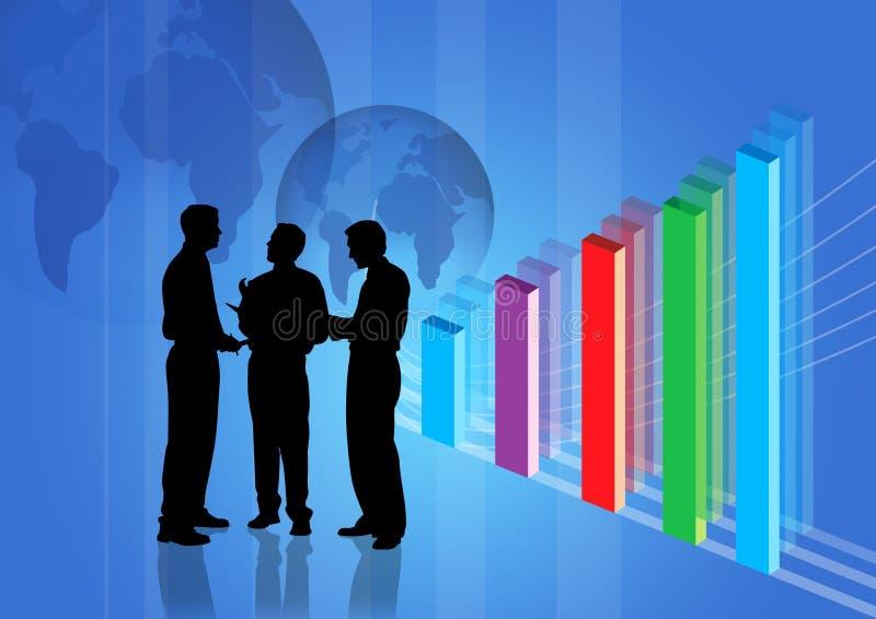 Commerciële Vergadering en winst gr. stock illustratie