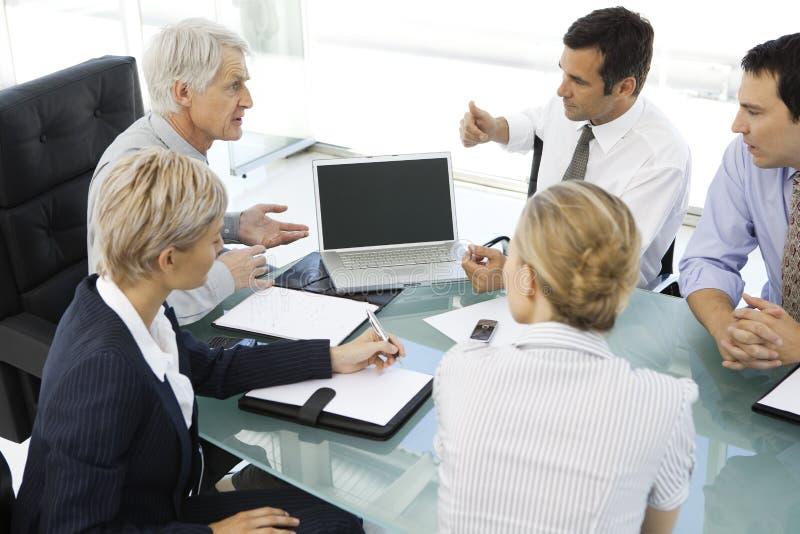 Commerciële vergadering met CEO royalty-vrije stock afbeelding