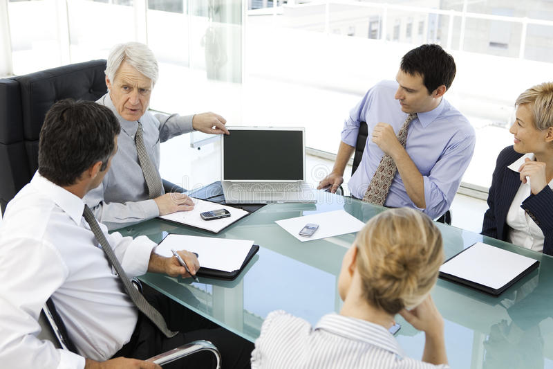 Commerciële vergadering met CEO royalty-vrije stock foto