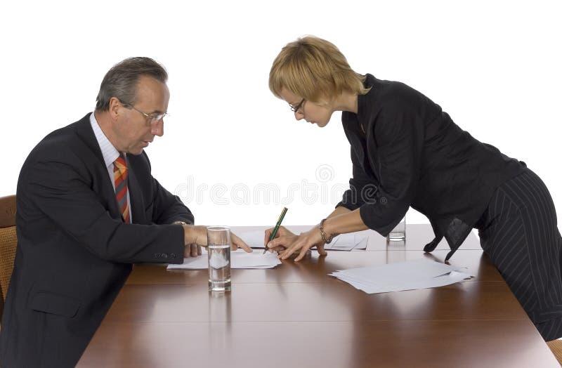 Commerciële vergadering - teken royalty-vrije stock fotografie