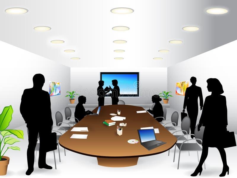 Commerciële vergaderingsruimte royalty-vrije illustratie