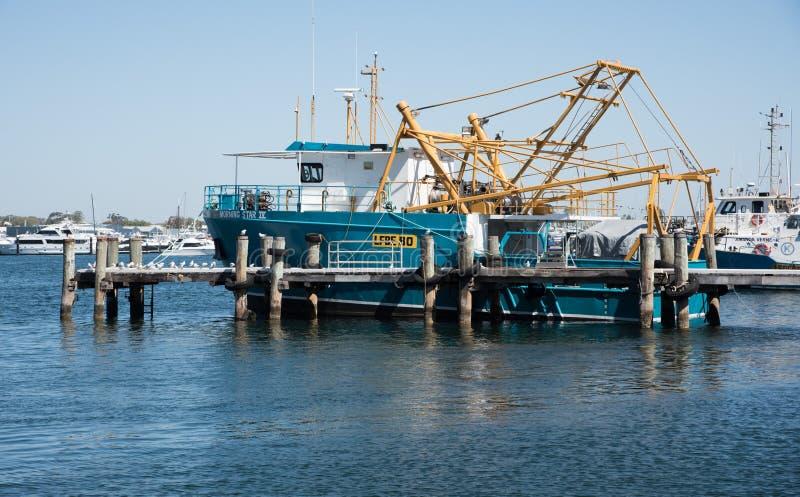 Commerciële Vissersboot: De Haven van de Fremantle Vissersboot royalty-vrije stock foto's