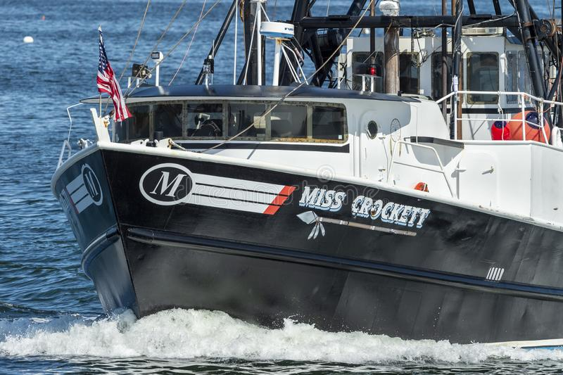 Commerciële vissersbootmisser Crockett-het leiden aan overzees van New Bedford, Massachusetts royalty-vrije stock fotografie