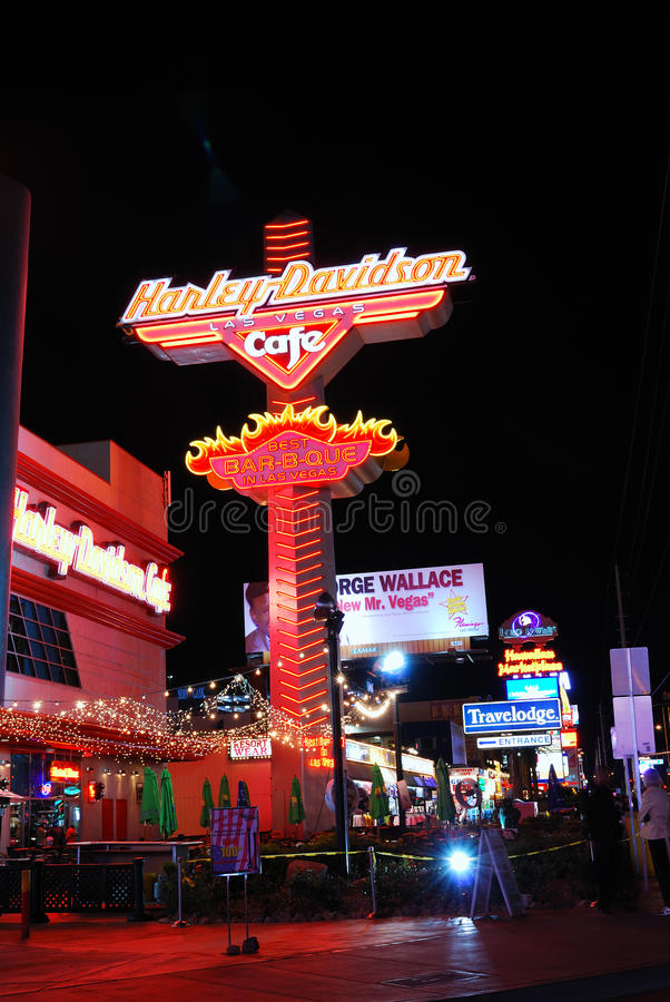 Commercial advertisement, Las Vegas Strip royalty free stock photo