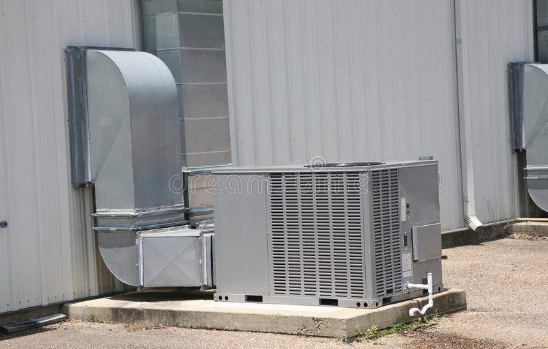 Commercial Air handling unit. Air handling unit provides central heating and cooling service to a commercial Business stock image