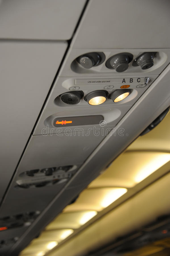 Commercial Aircraft Interior Stock Image