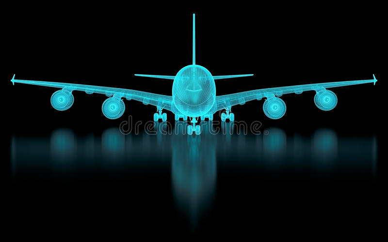 Download Commercial Aircraft Mesh stock illustration. Image of designer - 28885692