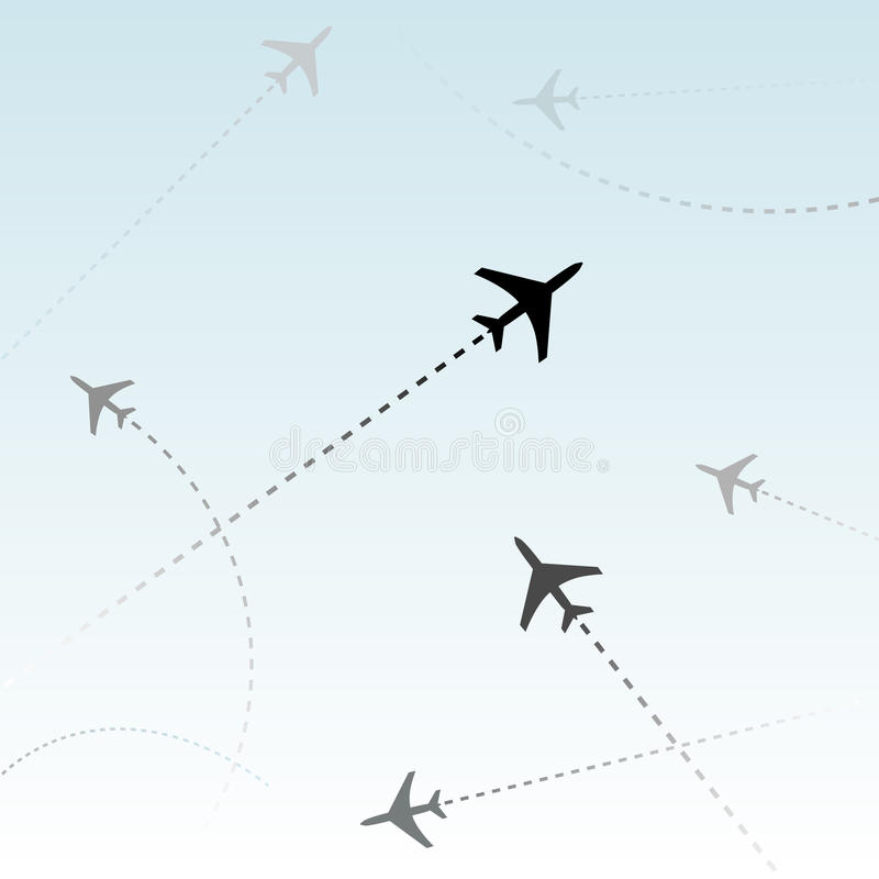 Download Commercial Airline Passenger Flights Air Traffic Stock Vector - Image: 10487642