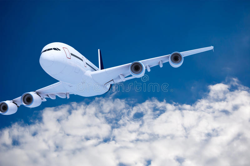 Download Commercial airliner stock illustration. Illustration of altitude - 18837239