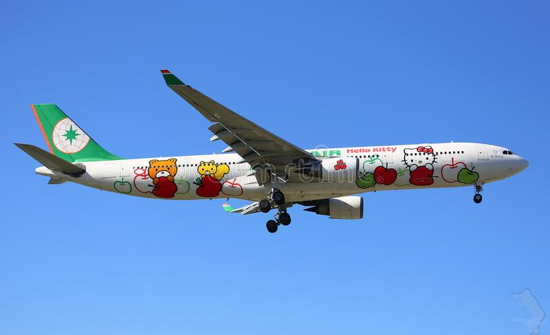Commercial Airliner With Hello Kitty Free Public Domain Cc0 Image