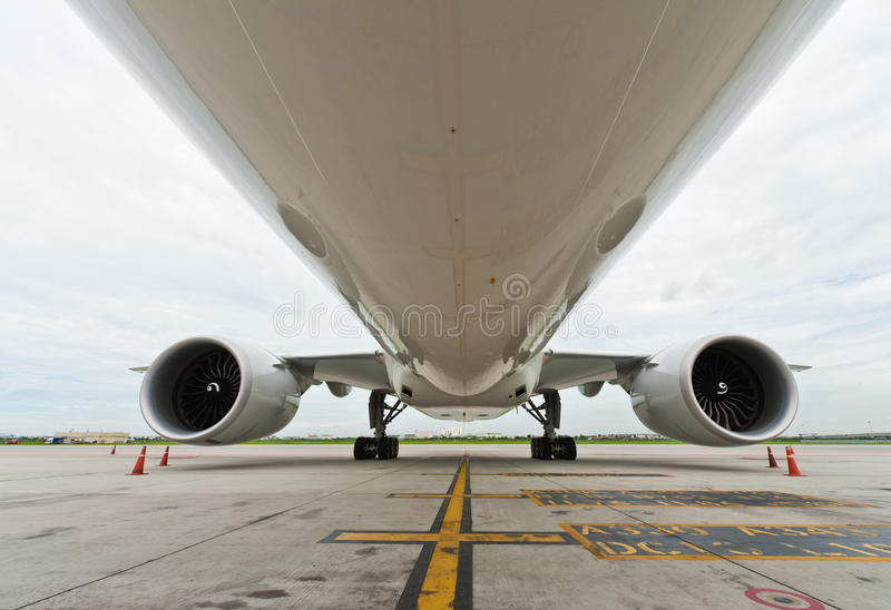 Download Commercial airplane stock image. Image of parked, blue - 23174227