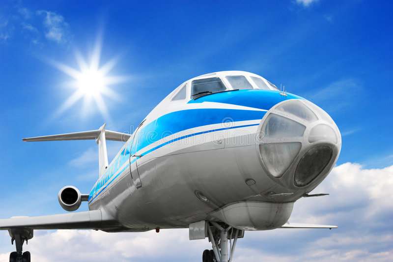 Commercial airplane royalty free stock photos