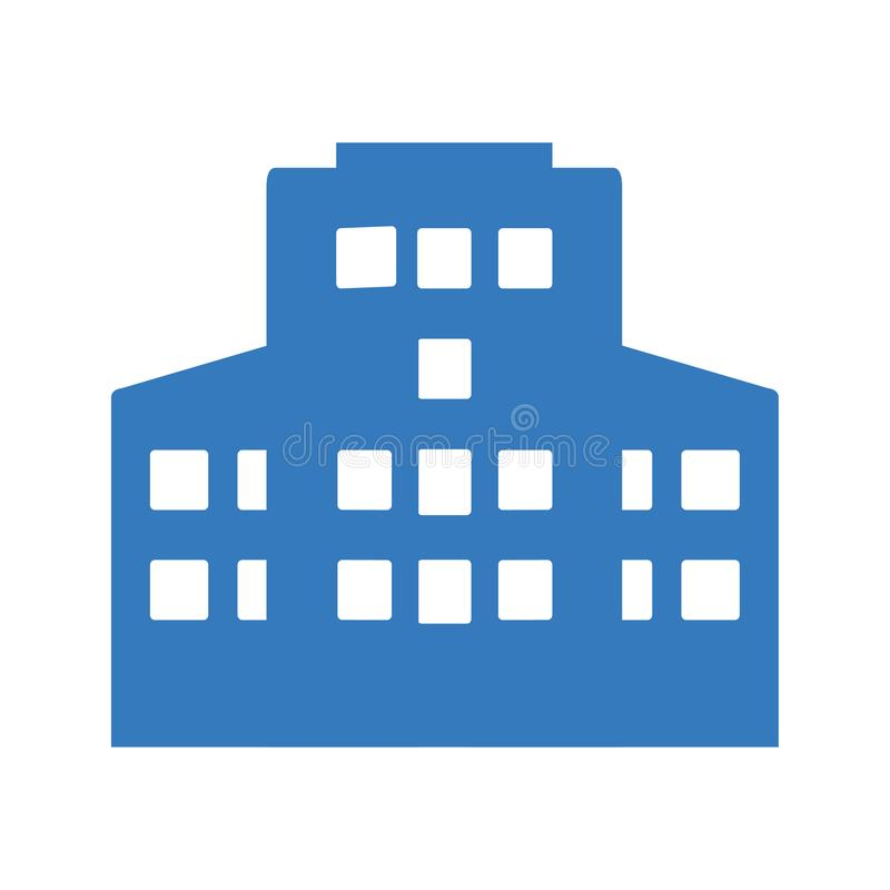Building, apartment Icon. Commercial apartment or building icon for any use. thanks royalty free illustration