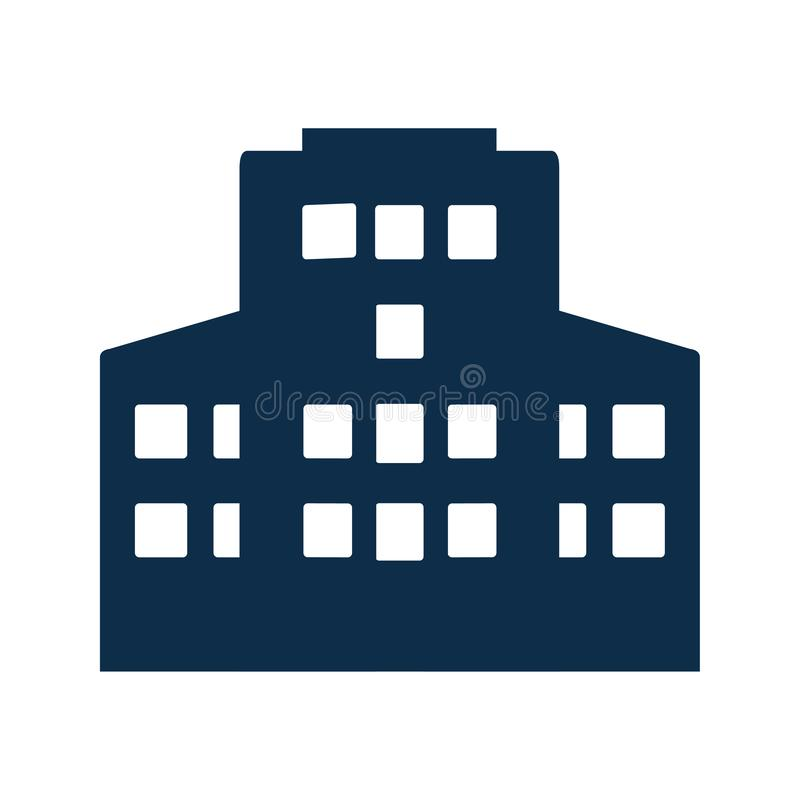 Building, apartment Icon. Commercial apartment or building icon for any use. thanks stock illustration