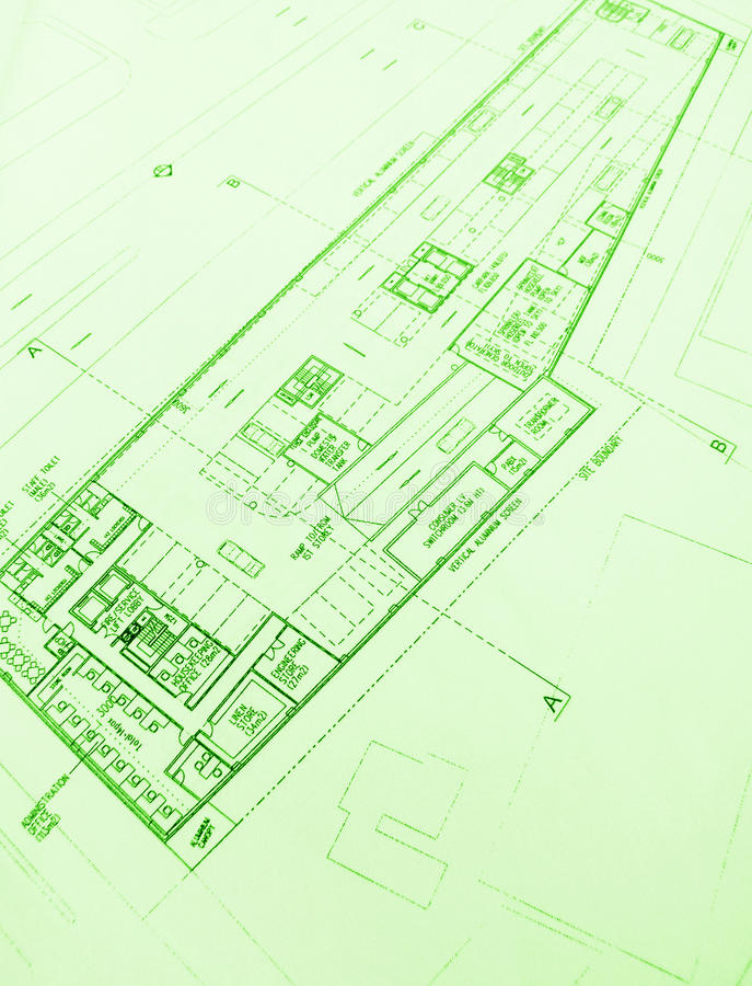 Download Commercial Architecture Floor Layout Plans Stock Photo - Image: 9800626