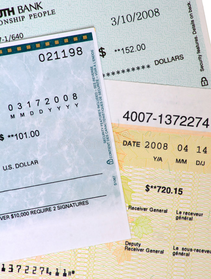Free Commercial Bank Checks. Royalty Free Stock Photography - 5011297