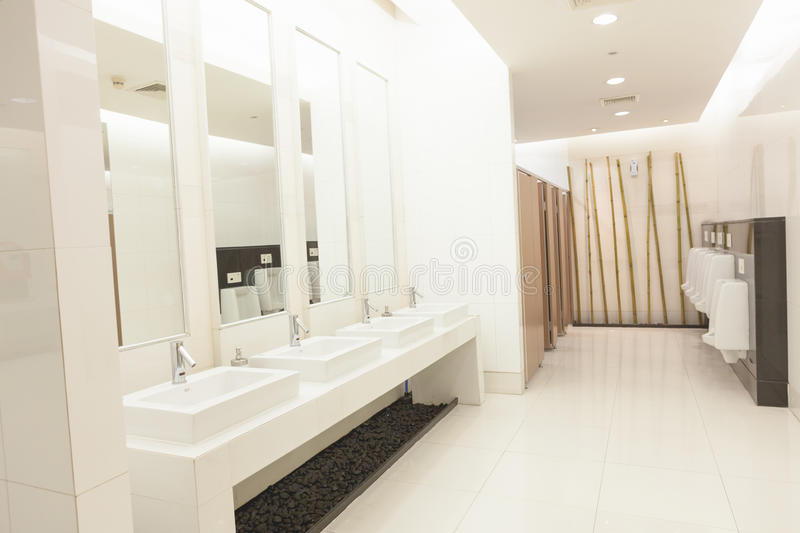 Commercial bathroom. royalty free stock image