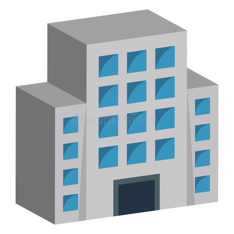 Commercial Building Color vector icon fully editable royalty free illustration