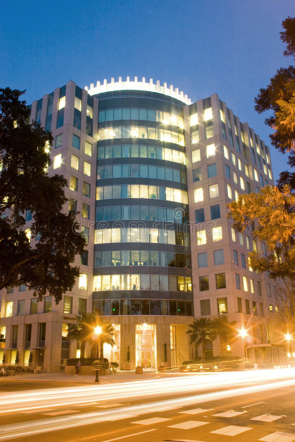 Download Commercial Building At Dusk Stock Images - Image: 9848384