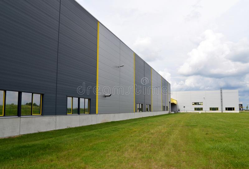 Commercial building exterior view of a mechanical engineering fa. Ctory outside stock photography
