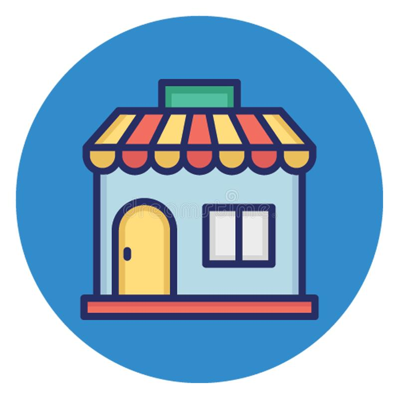 Commercial building, marketplace Vector Icon which can easily edit vector illustration