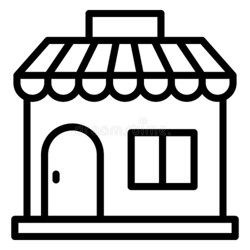 Commercial building, marketplace Vector Icon which can easily edit stock illustration