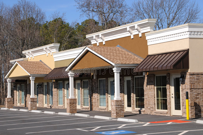 Commercial Building with Office and Retail Space stock photography