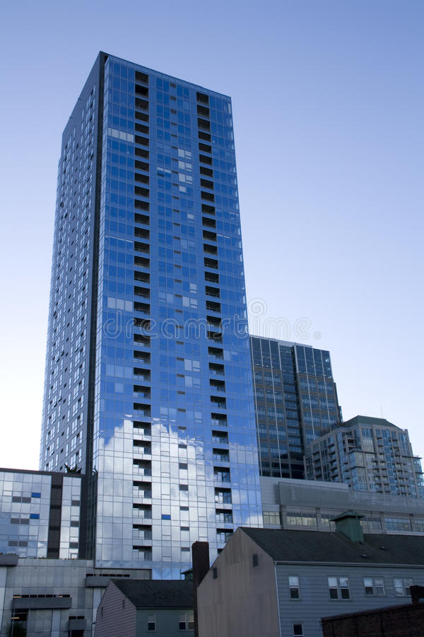 Commercial buildings in downtown Seattle stock image
