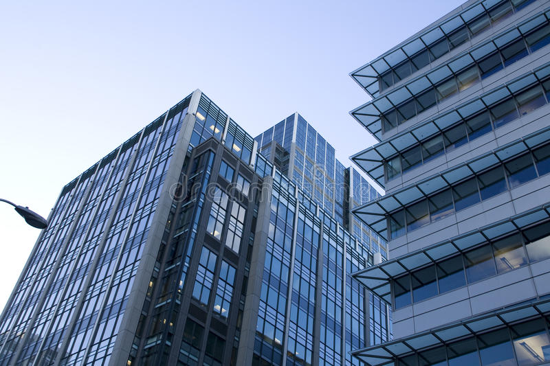 Commercial buildings in downtown Seattle royalty free stock images