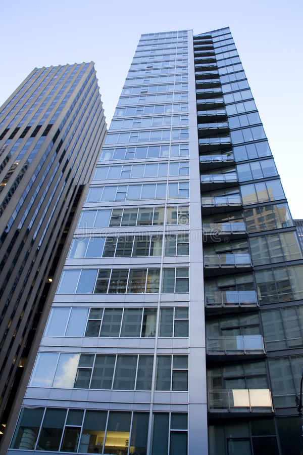 Commercial buildings in downtown Seattle stock images