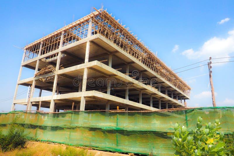 Commercial buildings 4 floors construction stock photos
