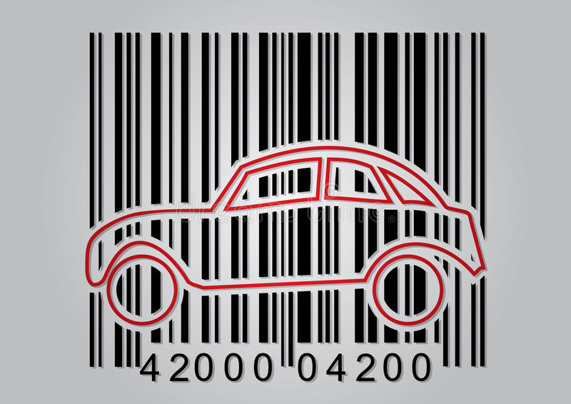 Commercial concept with barcode vector illustration
