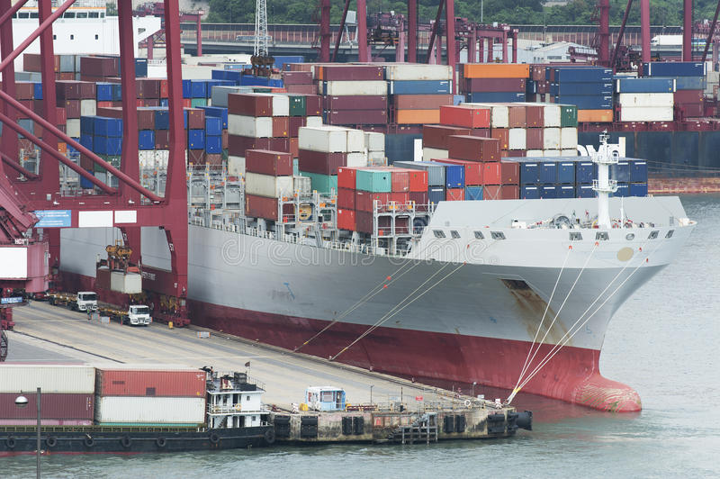 Download Commercial container port stock photo. Image of export - 26281948