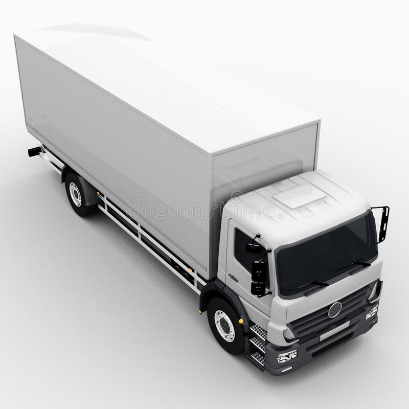 Download Commercial Delivery / Cargo Truck Stock Illustration - Image: 30505711
