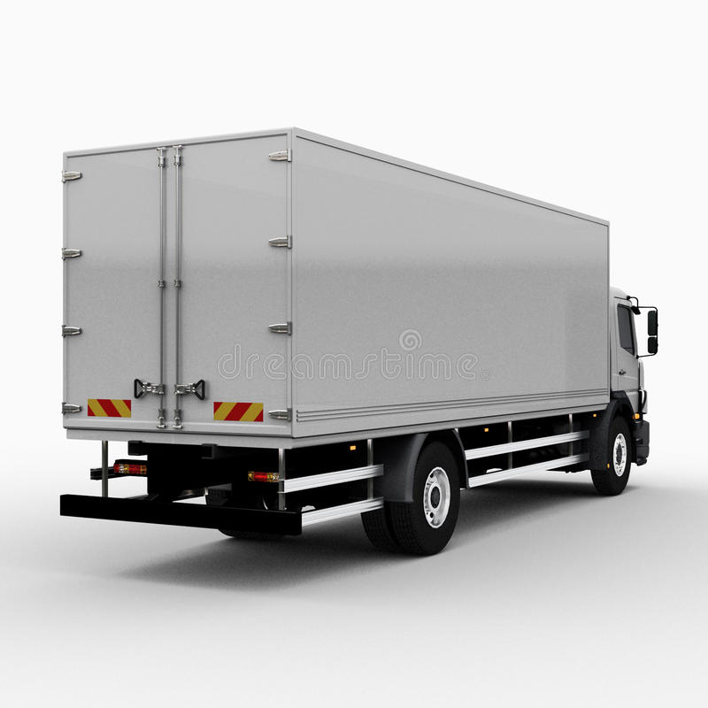 Download Commercial Delivery / Cargo Truck Stock Illustration - Image: 30505716