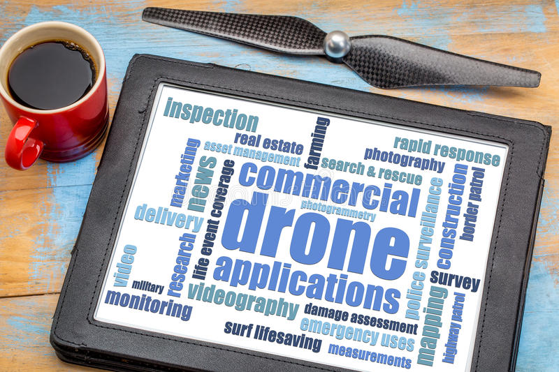 Commercial drone applications stock photography