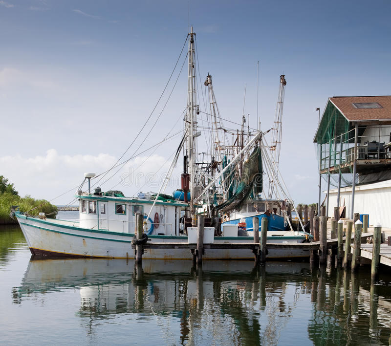 Download Commercial Fishing Boat In Marina Stock Image - Image: 19578173