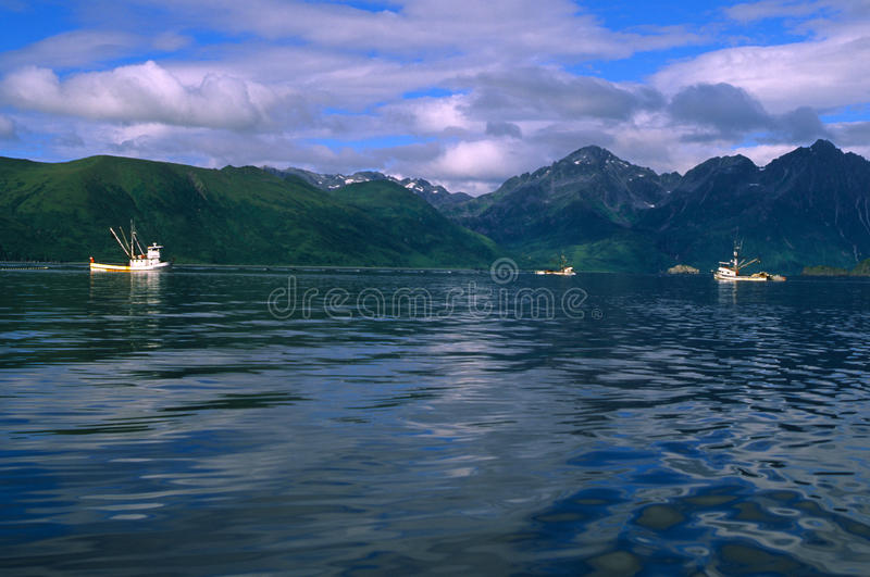 Commercial Fishing boats in Alaska royalty free stock photography