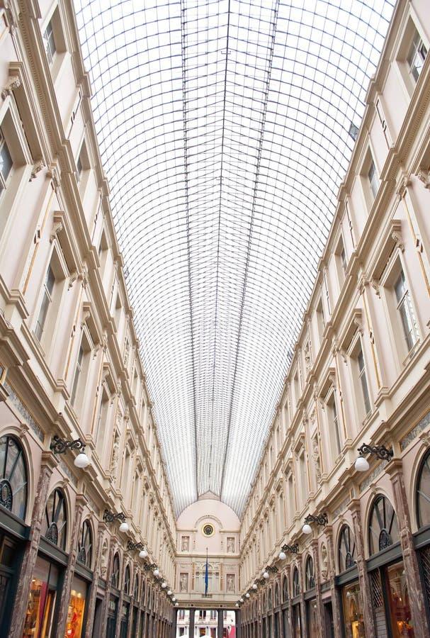 Commercial Galleries Saint-Hubert, Brussels. Roofs of the famous Saint-Hubert Stores in Brussels, Belgium stock images