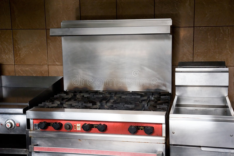 Download Commercial Gas Grill stock image. Image of stove, kitchen - 5887731