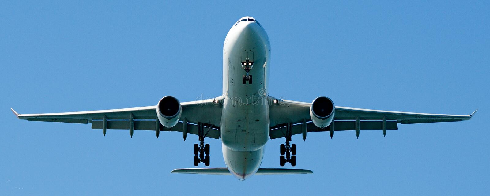 Commercial Jet Aircraft at Sydney Airport royalty free stock photos