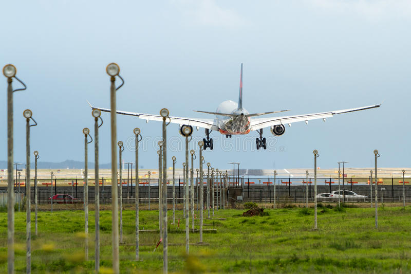 Download Commercial Jet Airliner Landing At Airport Royalty Free Stock Photos - Image: 36686948