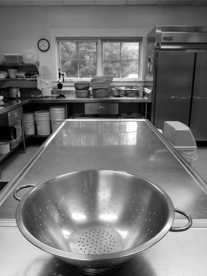 Commercial Kitchen: Colander Stock Photography