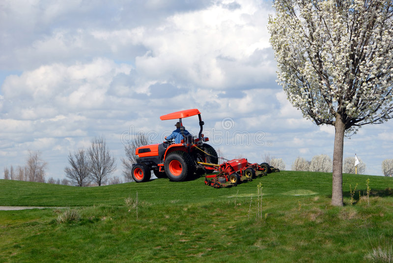 Download Commercial Lawn Mower stock photo. Image of ourdoor, working - 8682106