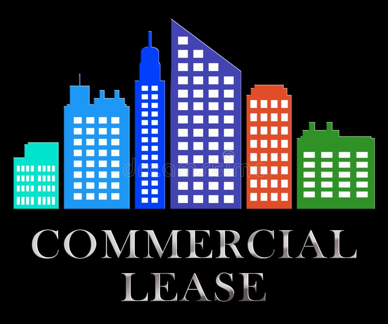 Commercial Lease Describes Real Estate Leases 3d Illustration stock illustration