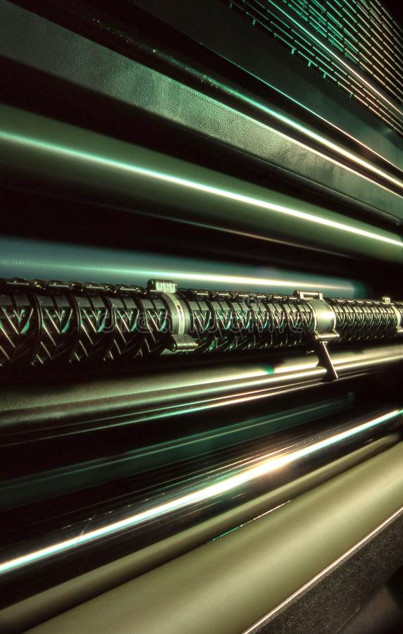 Commercial offset printing press stock photos